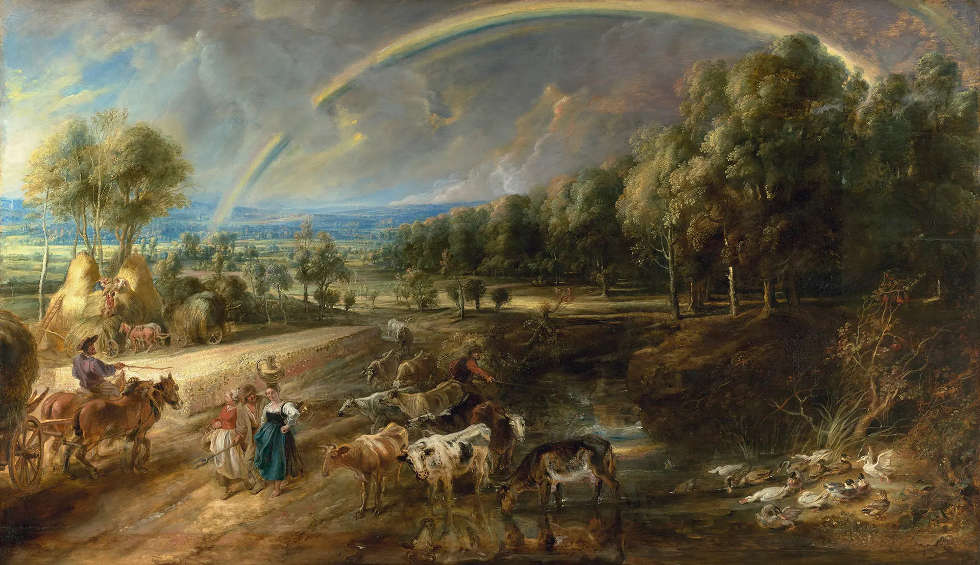 Peter Paul Rubens, Landschaft mit Regenbogen, um 1636, Öl/Eiche, 135.6 x 235 cm (Wallace Collection, London)