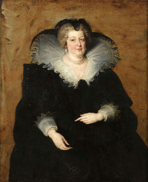 Peter Paul Rubens, Maria de' Medici, Königinmutter von Frankreich, 1622, Öl/Lw, 131 x 108 cm (Madrid, Museo Nacional del Prado © Museo Nacional del Prado, Dist. RMN-GP / image du Prado)