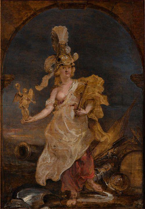 Peter Paul Rubens, Maria de' Medici als Bellona, 1622, Öl/Holz, 42,2 x 29,5 cm (Worms, Museum Heylshof © Museum Heylshof /Worms, Reproduction: Stefan Blume)