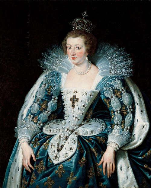 Peter Paul Rubens, Porträt von Anna von Österreich, Königin von Frankreich, um 1622–1625, Öl/Lw, 120 x 96,8 cm (Kalifornien, Pasadena, The Norton Simon Foundation © The Norton Simon Foundation)