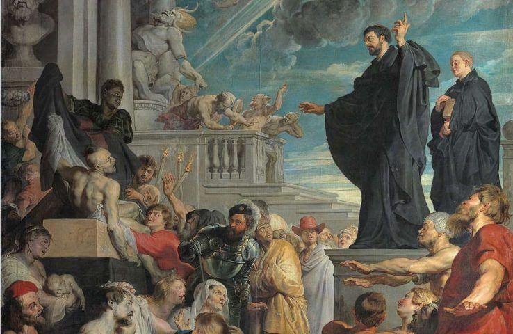 Peter Paul Rubens, Die Wunder des hl. Franz Xaver, Heiliger, um 1616/17, Öl/Lw, 535 × 395 cm (Wien, Kunsthistorisches Museum, Gemäldegalerie, Inv. GG 51)