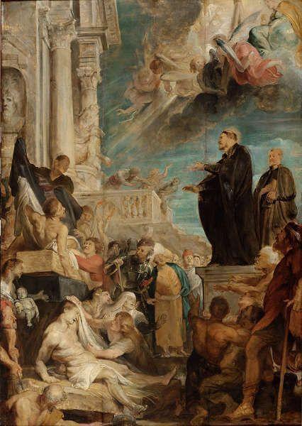 Peter Paul Rubens, Modello für die Wunder des hl. Franz Xaver, um 1616/17, Öl/Eichenholz, 104,5 × 72,5 cm (Wien, Kunsthistorisches Museum, Gemäldegalerie, Inv. GG 528)