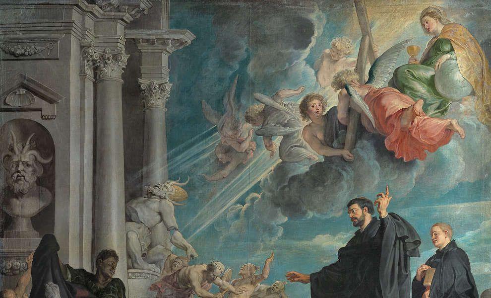 Peter Paul Rubens, Die Wunder des hl. Franz Xaver, Fides, um 1616/17, Öl/Lw, 535 × 395 cm (Wien, Kunsthistorisches Museum, Gemäldegalerie, Inv. GG 51)