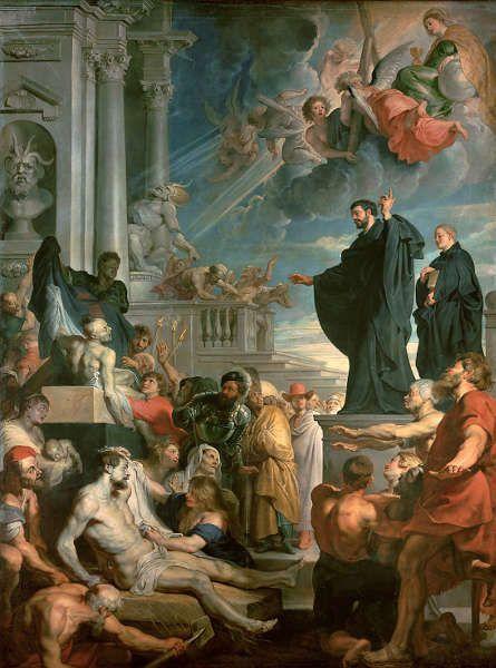 Peter Paul Rubens, Die Wunder des hl. Franz Xaver, um 1616/17, Öl/Lw, 535 × 395 cm (Wien, Kunsthistorisches Museum, Gemäldegalerie, Inv. GG 51)