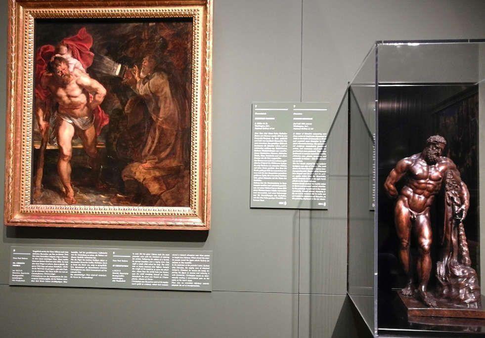Peter Paul Rubens, Hl. Christophorus, Reduktion des Herkules Farnese (Nationaln Gallery of Art, Washington), Ausstellungsansicht: Peter Paul Rubens. Kraft der Verwandlung, Foto: Alexandra Matzner, ARTinWORDS