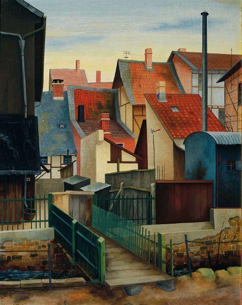 Rudolf Wacker, An der Abzucht (in Goslar), 1932, Öl-Holz, 63 x 50 cm (Belvedere, Wien)