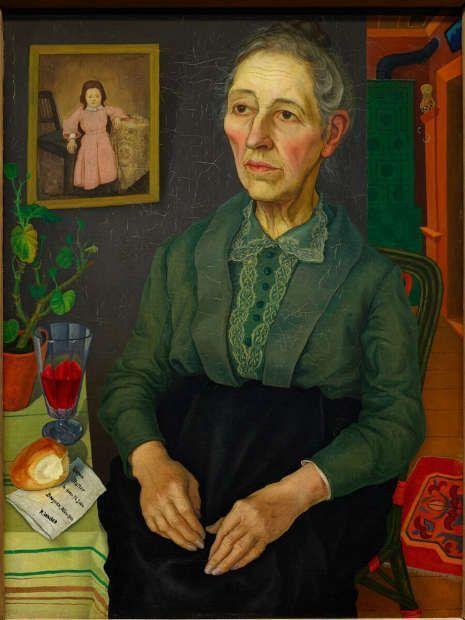 Rudolf Wacker, Bildnis meiner Mutter (in ihrem 72. Lebensjahr), 1926, Öl-Lw, 77 x 58 cm (Sammlung Batlinger, Albertina, Wien, Inv.-Nr. GE467DL)