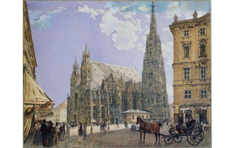 Rudolf von Alt, Der Stephansdom in Wien (klein)
