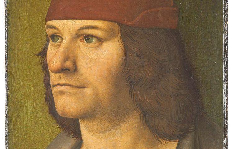 Rueland Frueauf d. Ä., Bildnis des Malers Jobst Seyfrid, Detail, um 1490 (© Belvedere, Wien)