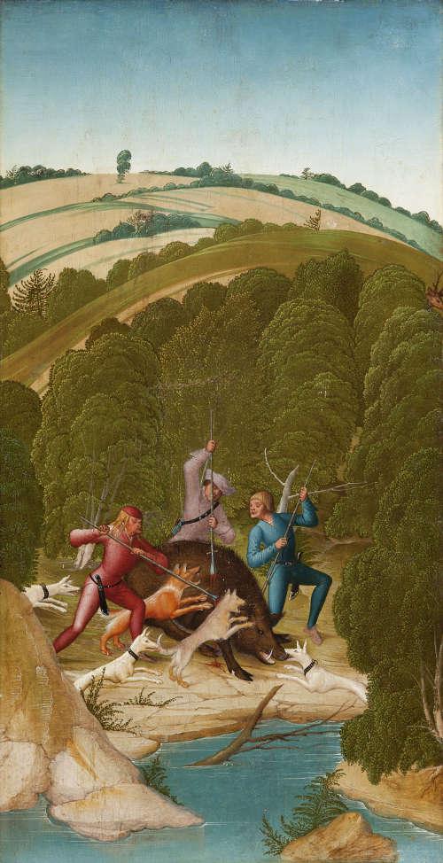 Rueland Frueauf d. J., Sauhatz, um 1505 (Stiftsmuseum Klosterneuburg)