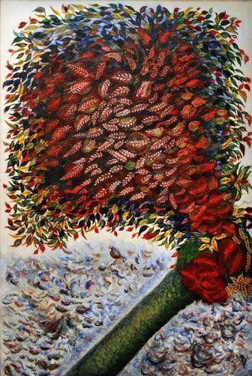 Séraphine Louis, Arbre rouge,um 1927-1928 (Musée National d'Art Moderne, Paris)