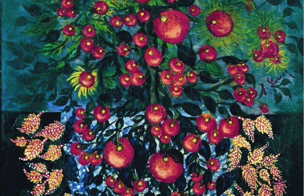 Séraphine Louis, Pommes aux feuilles, Detail, 1928–1930, Öl/Lw, 116 x 90 cm (Collection Dina Vierny)