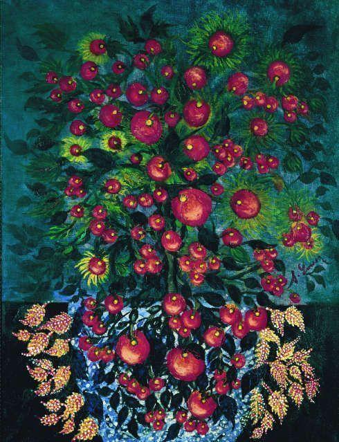 Séraphine Louis, Pommes aux feuilles, 1928–1930, Öl/Lw, 116 x 90 cm (Collection Dina Vierny)