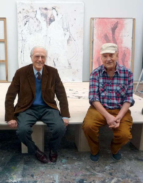 S.K.H. Herzog Franz von Bayern und Georg Baselitz im Atelier des Künstlers, 2016 © Elke Baselitz