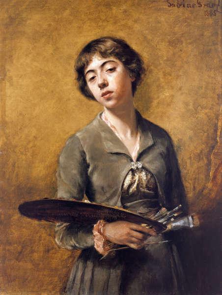Sabine Lepsius, Selbstbildnis, 1885 (© Staatliche Museen zu Berlin, Nationalgalerie / Jörg P. Anders)
