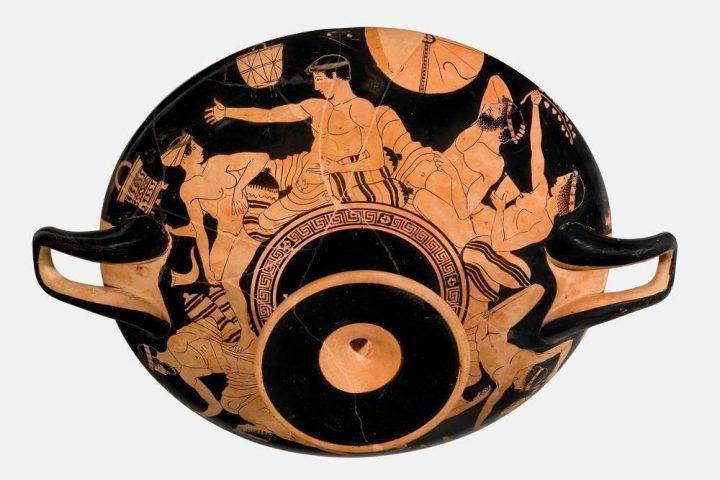 Schale des Tarquinia-Malers, Attisch, rotfigurig, um 470–460 v.u.Z. (Antikenmuseum Basel und Sammlung Ludwig, © Antikenmuseum Basel und Sammlung Ludwig)