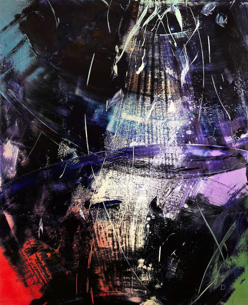 Hubert Scheibl, Desastres, 2013/14, Öl auf Leinwand, 240 x 195 cm (© Hubert Scheibl)