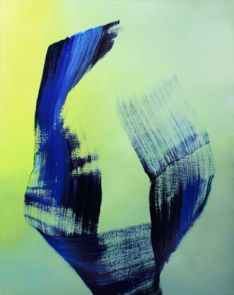Hubert Scheibl, Ones, 2015/16, Öl auf Leinwand, 150 x 120 cm (© Hubert Scheibl)