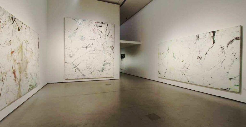 Hubert Scheibl, This is a very nice drawing, Dave (2001: Odyssee im Weltraum) und Pardes II, beide 2008, Ausstellungsansicht Belvedere 2016 (© Hubert Scheibl, Foto: Alexandra Matzner)