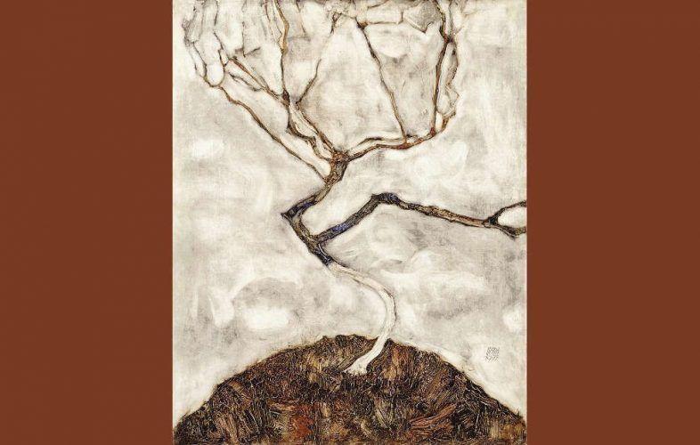 Egon Schiele, Herbstbaum in bewegter Luft (klein)
