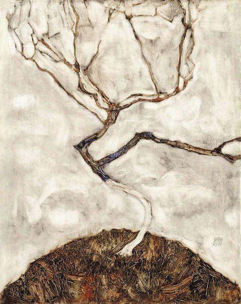 Egon Schiele, Kleiner Baum im Spätherbst, 1911, Öl/Holz, 42 x 33,5 cm (Leopold Museum Privatstiftung, Inv.-Nr. LM mv. Nr. 459)