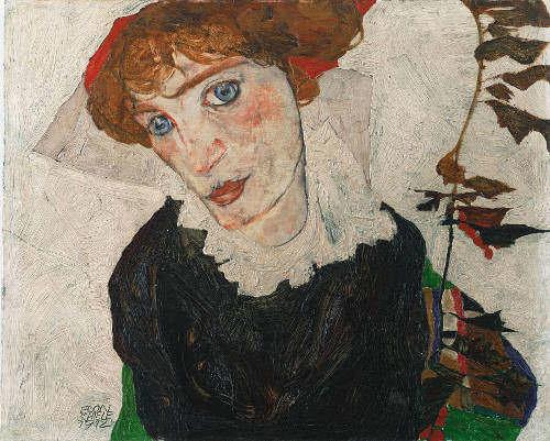Egon Schiele, Wally, Detail, 1912 (Leopold Museum, Wien)
