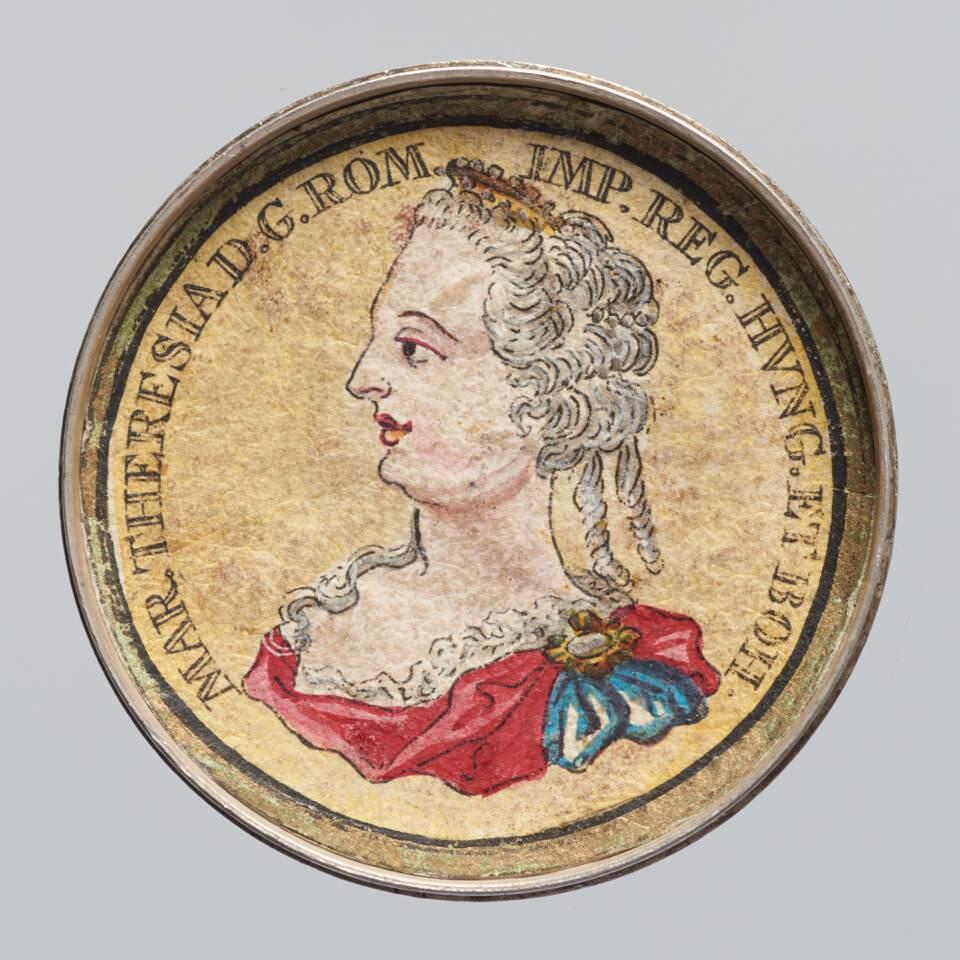 Innenseite einer Schraubmedaille mit dem Porträt von Maria Theresia (KHM, Münzkabinett, Inv.-Nr. 5955/1914B)