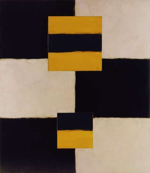 Sean Scully, Figure Figure, 2004, Öl auf Leinwand, 243,8 x 214 cm (Privatsammlung, Courtesy Neo Neo © Sean Scully)