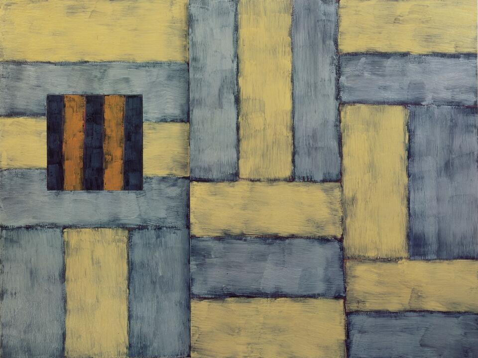 Sean Scully, Palace, 1992, Öl auf Leinwand, 229 x 123 cm (Foto: Archiv Sammlung Essl © Sean Scully, Albertina, Wien: Sammlung Essl)