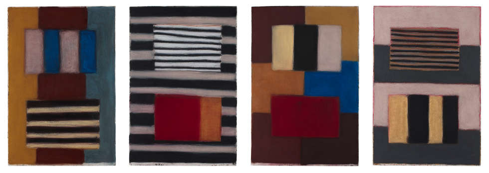 Sean Scully, What Makes Us, 2017, Pastell/Papier, je 152.4 × 101.6 cm (Privatsammlung (SS2894) © Sean Scully. Foto: courtesy the artist)