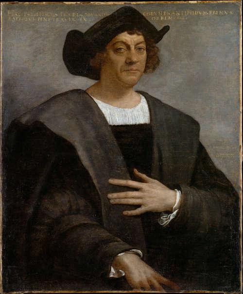 Sebastiano del Piombo, Porträt eines Mannes, vielleicht Christopher Columbus, 1519, Öl auf Leinwand, 106.7 x 88.3 cm (Metropolitan Museums, New York, Gift of J. Pierpont Morgan, 1900, 00.18.2)