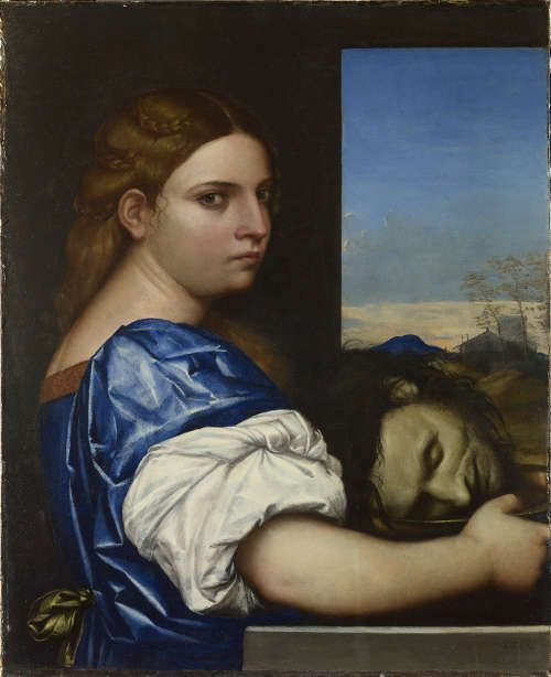 Sebastiano del Piombo, Judith (oder Salome), 1510, Öl auf Holz, 54.9 x 44.5 cm (© The National Gallery, London, NG2493)