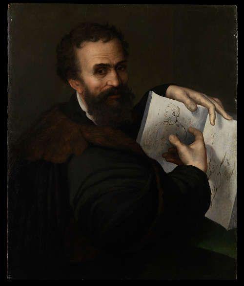 Sebastiano del Piombo zg., Portrait Michelangelos, um 1518–1520, Öl auf Holz, 88.5 × 74 cm (Galerie Hans, Hamburg © photo Archivio Opificio delle Pietre Dure, Florence)