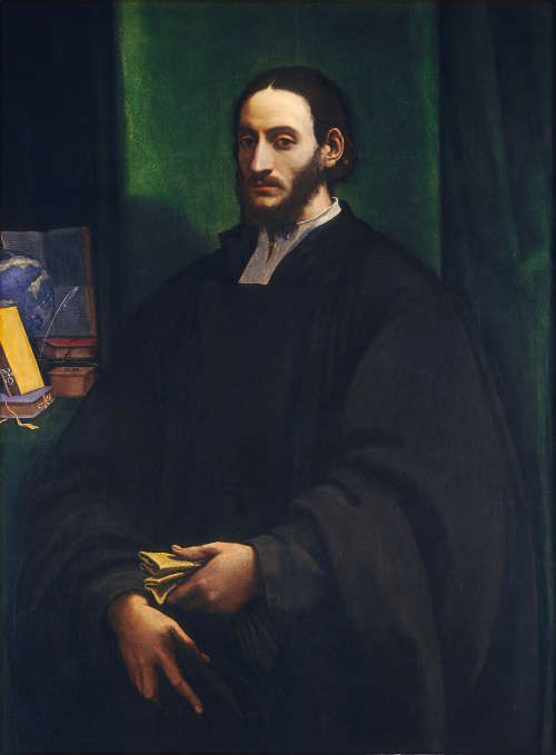 Sebastiano del Piombo, Porträt eines Humanisten, um 1520, Öl auf Holz, 134.7 x 101 x 3.5 cm (171.8 x 139.4 x 10.2 cm) (Washington, National Gallery of Art, Samuel H. Kress Collection, 1961.9.38)