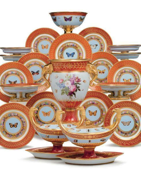 Sevres, Marly Rouge Service, 1807-1809 (Privatsammlung)