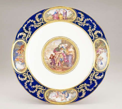 Sévres, Speiseteller des Louis XVI Service, 1783–1792 (Royal Collection Trust / (c) Her Majesty Queen Elizabeth II 2019)