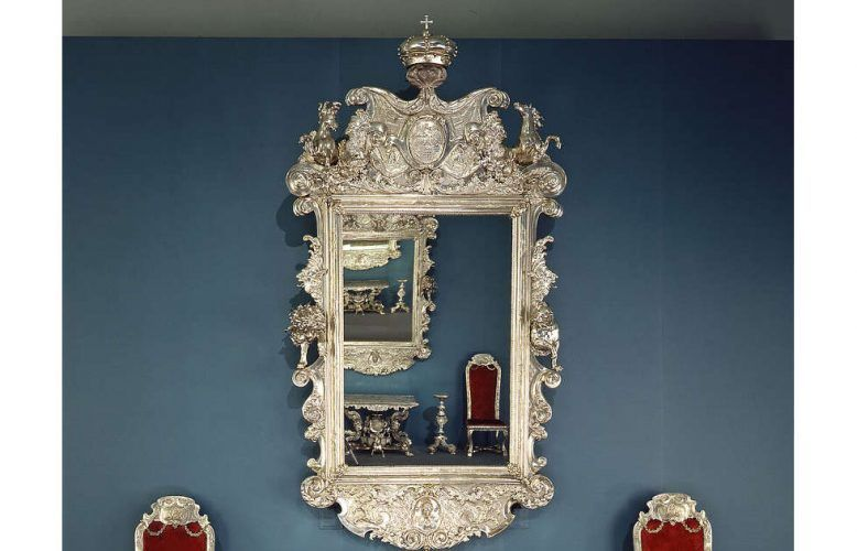 Silbermöbel der Welfen, Spiegel © Bayerisches Nationalmuseum, Foto: Walter Haberland