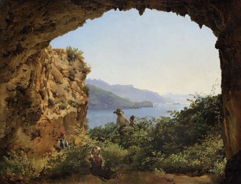 Silvester Schtschedrin, Grotta di Matromania auf Capri, 1827, Öl auf Leinwand, 35,7 × 46,4 cm (© Staatliche Tretjakow-Galerie, Moskau)