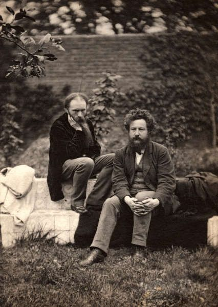 Sir Edward Burne-Jones und William Morris, 1874, Foto von Frederick Hollyer, Platinumdruck (© National Portrait Gallery, London)