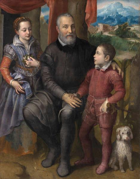 Sofonisba Anguissola, Familienporträt, um 1558, Öl/Lw (The Nivaagaard Collection, Niva, Dänemark)
