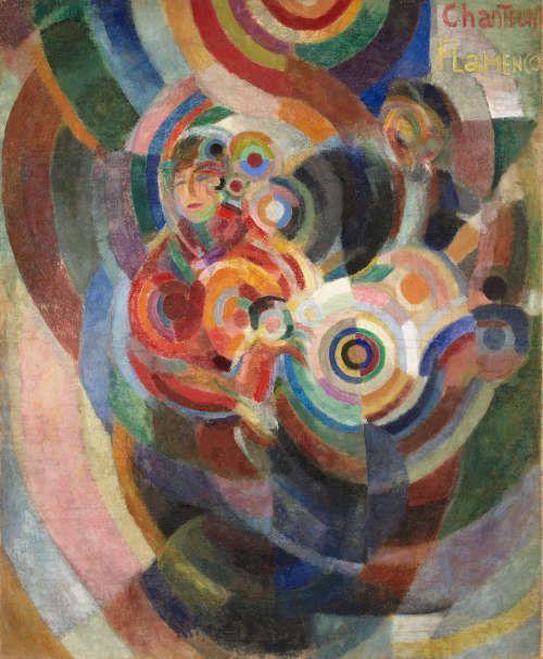 Sonia Delaunay, Flamencosängerinnen (Großer Flamenco), 1915/16, Öl und Enkaustik (Wachs) auf Leinwand, 174,5 x 143 cm (Museu Calouste Gulbenkian, Lissabon © Pracusa 2017633)