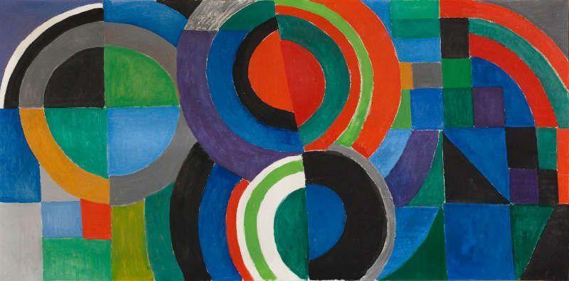 Sonia Delaunay, Rhythmus Farbe, 1964, Öl auf Leinwand, 97,5 x 195,5 cm (Musée d'Art moderne de la Ville de Paris © Foto: Roger-Viollet, Pracusa 2017633)