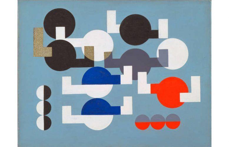 Sophie Taeuber-Arp, Komposition mit Kreisen und überlappenden Ecken, 1930 (The Museum of Modern Art, New York. The Riklis Collection of McCrory Corporation. Foto: The Museum of Modern Art, Department of Imaging and Visual Resources)