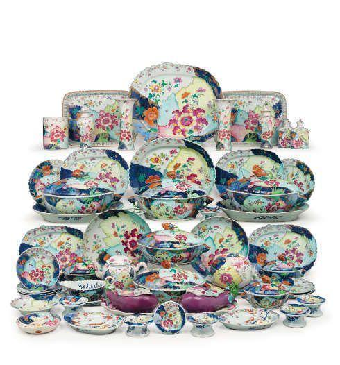Speiseservice mit Tabakblätter-Dekor, um 1775, chinesisch für Export