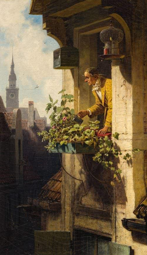 Carl Spitzweg, Die Dachstube I, 1848–1850, Öl auf Leinwand, 52 x 30,5 cm (Eckhart G. Grohmann Collection, Milwaukee, WI (USA))