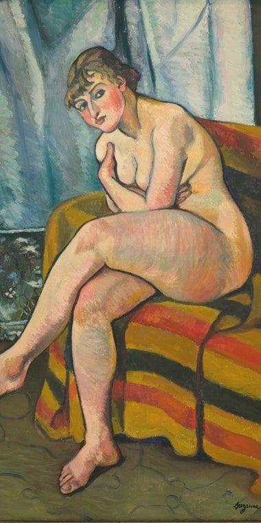 Suzanne Valadon, Akt auf einem Sofa sitzend, 1916 (The Weisman & Michel Collection)