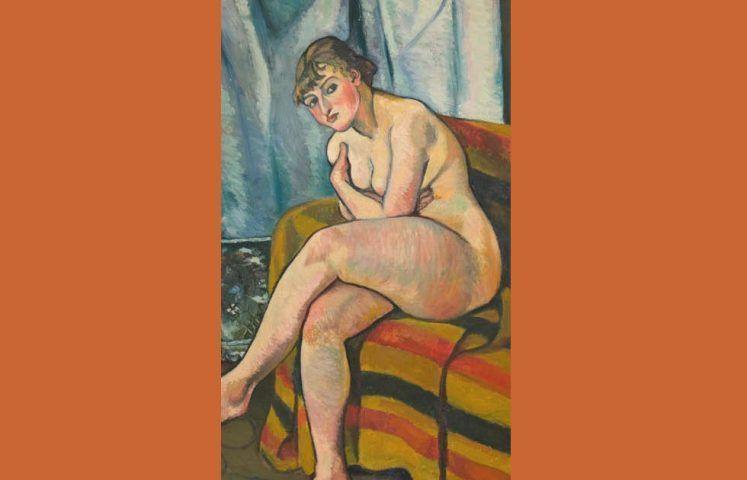 Suzanne Valadon, Akt auf einem Sofa sitzend, Detail, 1916 (The Weisman & Michel Collection)