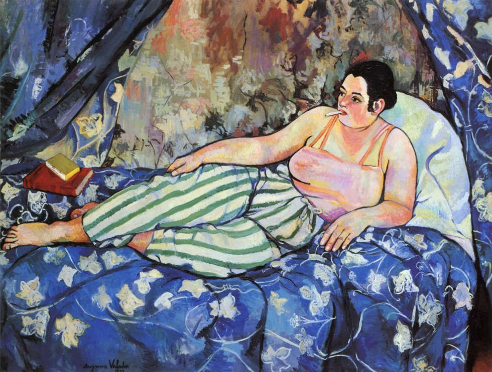 Suzanne Valadon, Der blaue Raum, 1923, Öl-Lw, 90 x 116 cm (Centre Georges Pompidou, Paris)