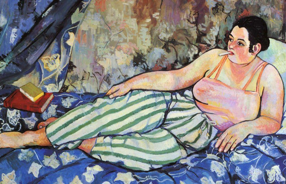 Suzanne Valadon, Der blaue Raum, Detail, 1923, Öl-Lw, 90 x 116 cm (Centre Georges Pompidou, Paris)
