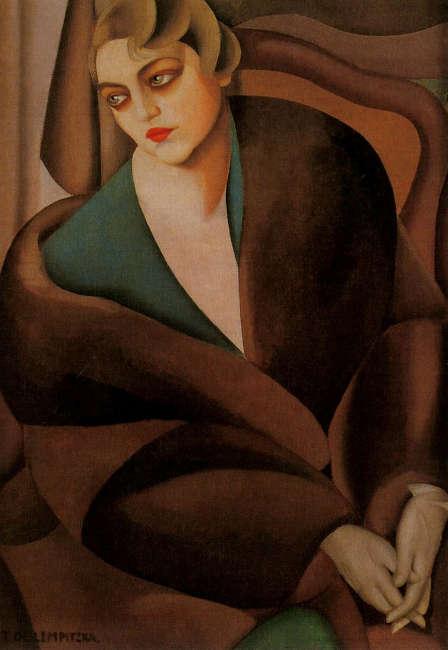 Tamara de Lempicka, Baronese Renata Treves, 1925, Öl-Lw, 100 x 70 cm (Privatsammlung)